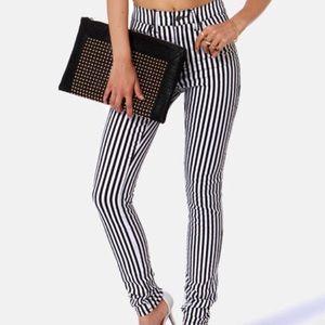 NWOT TRIPP NYC Wide Stripe T-Back Skinny Jeans 30